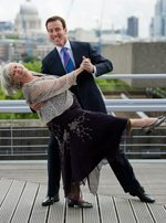 Anton du Beke and Ann Widdecombe at the launch of Bupa's Shall We Dance campaign. Credit: Professional Images