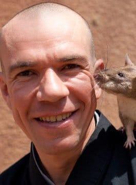 Bart Weetjens hero rat Speaker