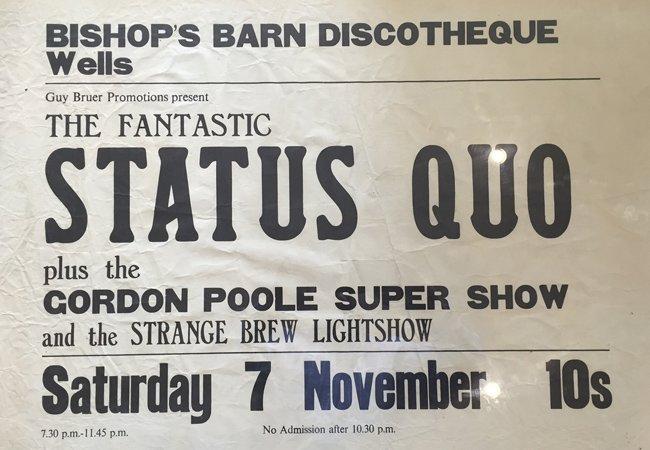 Status Quo Bishops Barn Wells Poster