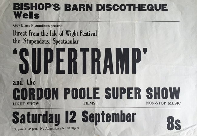Supertramp Bishops Barn Wells