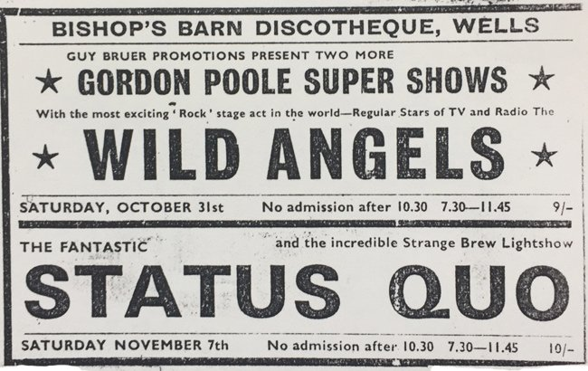 Bishops Barn Wells Status Quo and Wild Angels
