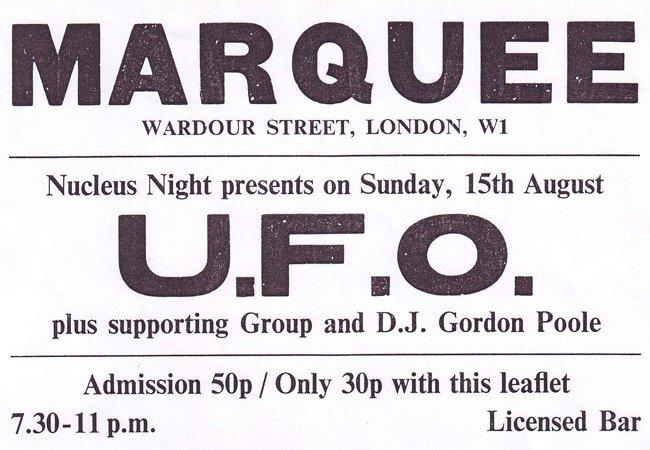 Marquee Club UFO