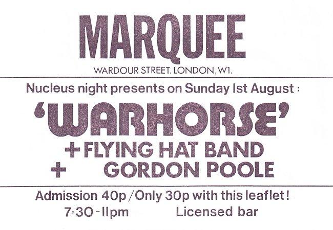 Marquee Club Warhorse
