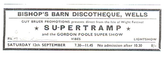 Bishops Barn Wells Supertramp