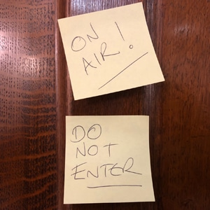On Air Post It Note